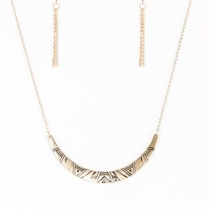 Howl At The Moon - Gold Necklace set